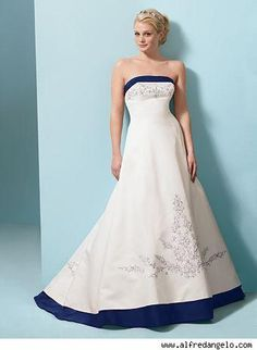 royal blue wedding dress | Oh no. A Wedding Board! | Pinterest ...