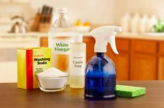 Non-Toxic Home Cleaning recipes.including Disinfectant: Mix 2 teaspoons borax, 4 tablespoons vinegar and 3 cups hot water. For stronger cleaning power add teaspoon liquid castile soap. Wipe on with dampened cloth or use non-aerosol spray bottle. Homemade Cleaning Supplies, Cleaning Recipes, Cleaning Hacks, Cleaning Checklist, Homemade Products, Organizing Tips, Cleaners Homemade, Diy Cleaners, Limpieza Natural
