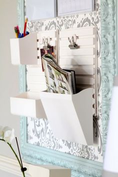 Love this organizer -- I need this! It's cheap, easy, and looks great. Tutorial on her blog!