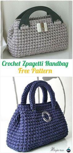 Crochet Zpagetti Handbag Free Pattern - #Crochet Handbag Free Patterns