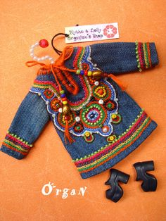 OOAK Little India ART Tunic CooL ChiC  JeanS  DRESS by organ111, $45.00