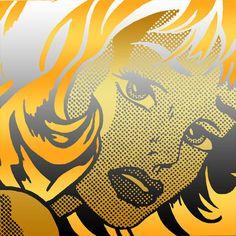 Golden Blonde A Lichtenstein Neo Pop Art Homage by NeoPopArte