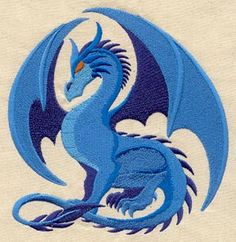 Embroidery Designs at Urban Threads - Sapphire Dragon