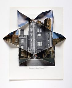 Abigail Reynolds, The Universal Now: St. James Gate 1935 / 19912010Cut and folded vintage bookplates 16.13 x 13.63 in (Framed)41 x 34.5 cm© AMBACH &am
