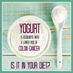 How often do YOU eat #yogurt? #coloncancer #cancer #diet #nutrition