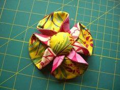 Yzart's - Manualidades Eloyza: Pap: flor de fuxico dobrada