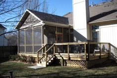 Gable Screened In Porch