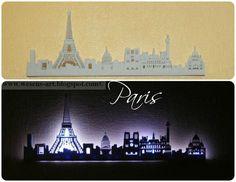 DIY Paris Skyline Lamp