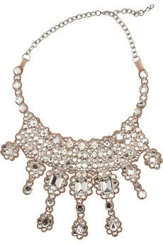 Valentino Gold-plated Swarovski crystal bib necklace NET-A-PORTER.COM - StyleSays