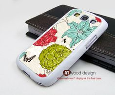 Samsung  Galaxy S3 i9300 Case  Galaxy SIII case unique Case Samsung Case illustration flower graphic design. $14.99, via Etsy.