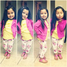 .my what bright colors, such a beautiful little girl fashion