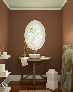 Listing The 6 Best Bathroom Paint Colors: Warm Brown Earth: Neutral In Action