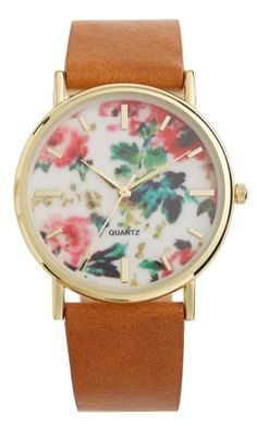 This floral-printed watch face is just too cute.
