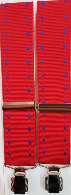 Cinta rojo azul pinza sencilla plateada