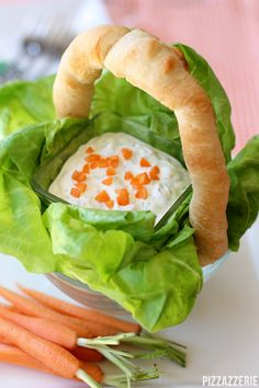 Easter Bunny Carrot Dip...well now, that's adorable!  {Pizzazzerie}