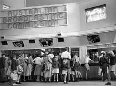 A crowd at the ABC Exhibit at the Royal Easter Show, Sydney, 1958