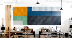 BAUX Acoustic Panels makes for a creative office, Photo courtesy of Skylar Morgan Furniture