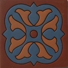 High relief tile 'Gretel' from Mexico is ideal for any indoor outdoor decor project. Use relief tile alone or combine them into creative mosaics. Our Mexican ceramic tile is meant for home renovation and new construction projects. Hand painted tiles include many rustic colors and sizes #myMexicanTile