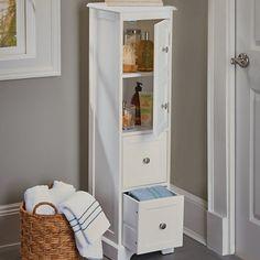 Weatherby Bathroom Tall Narrow Bath Cabinet