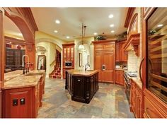 Love the floors - A gourmet kitchen in a castle | Riverwoods, IL 60015