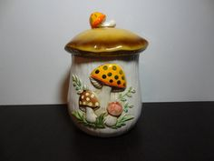 Vintage Sears Large Ceramic Mushroom by DaysLongGoneSalvage