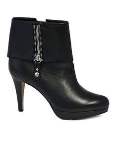 Black Poppers Leather Bootie #zulily #zulilyfinds