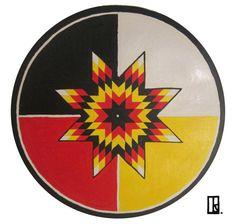 Medicine Star Wheel Mandala Art Print by Ramona Snow Teo Native American Medicine Wheel, Native American Quotes, Native American Crafts, American Indians, American Indian Art, Native American Patterns, Native American Design, Native American Beadwork, American Symbols