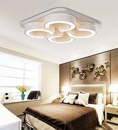 Style Home® 48W LED Modern Design Deckenleuchte Deckenlampe Wandlampe  Dimmbar Fernbedienung Wohnzimmer Schlafzimmer 6817