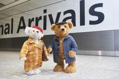 Heathrow Airport's Christmas bears Doris and Edward Bair have come to life
