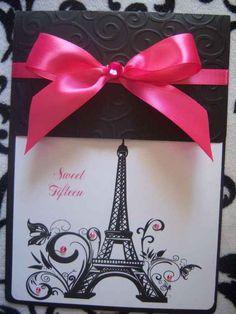 decoracion de invitacion de 15 años de paris (4)