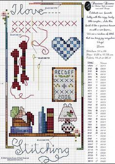 I love stitching cross stitch