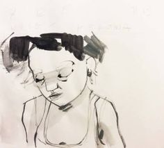 "Saatchi Art Artist Monica Bonzano; Drawing, ""SKETCH HEROIN\A 171215"" #art"