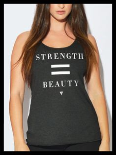Women's Strength = Beauty Tank Top - Black with White Print. (Pre-Sale – GREATERTHREADS