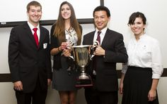 SDSU business students brought home the gold - and a very large trophy -  in a real estate competition.