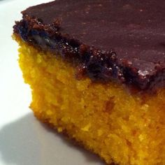 Brazilian carrot cake. Bolo de cenoura.