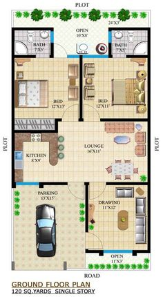 A plan is a graphical representation of something based on a parallel projection or orthographic view of a horizontal plane, plan design 40x60 House Plans, Town House Plans, Little House Plans, 2bhk House Plan, Bungalow Floor Plans, Free House Plans, Model House Plan, House Layout Plans, Home Design Floor Plans