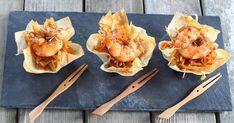 Recette - Mini cups crevettes et légumes en vidéo Snack Recipes, Snacks, Tasty Dishes, Finger Foods, Mini, Cauliflower, Macaroni And Cheese, Buffet, Garlic