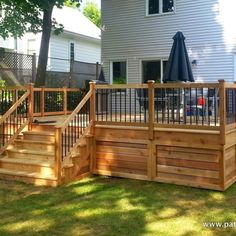 Getting The Most Out Of A Deck With Patio Designs – Pool Landscape Ideas Outdoor Pergola, Backyard Pergola, Pergola Shade, Pergola Ideas, Pergola Kits, Wisteria Pergola, Corner Pergola, Patio Ideas, Patio Railing