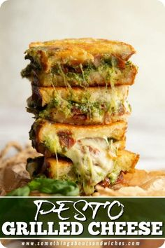 Pesto Sandwich, Grill Cheese Sandwich Recipes, Grilled Cheese Recipes, Grilled Sandwich, Healthy Sandwiches, Grilled Cheese Sandwiches, Tomato Mozzarella Sandwich, Easy Sandwich Recipes, Pesto Grilled Cheeses