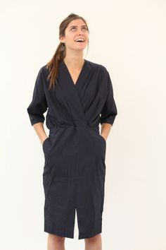 Apiece Apart Mina Gathered Wrap Dress
