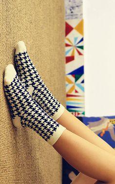 Women  Caramella Cotton Crew Socks