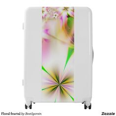 Shop Floral fractal luggage created by BestIgorsin. Painting Digital, Third Base, Luggage Suitcase, Reset Button, Fractals, Make It Yourself, Floral, Color, Design