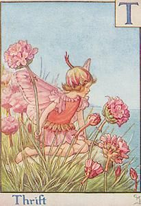 T is For Thrift- by Cicely Mary Barker