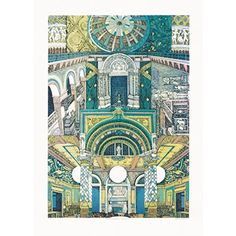 Portrait of the V&A (Limited Edition Print) -- by Lucille Clerc