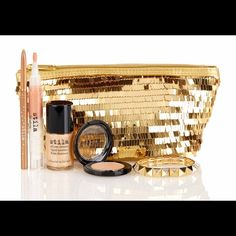 FINAL MARKDOWN Stila Best of Kitten Makeup Set Best of Kitten includes:   EYE SHADOW IN KITTEN,  LIP GLOSS IN KITTEN,  ALL OVER SHIMMER LIQUID LUMINIZER IN KITTEN,  SMUDGE STICK WATERPROOF EYE LINER IN GILDED, GOLD BRACELET WITH CRYSTALS BY BAUBLEBAR and a GOLD SEQUINED CLUTCH. These are not only wonderful products, this is a fantastic deal! Stila Makeup