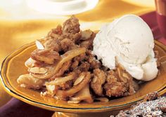 Apple-Almond Crisp. Crumb topping was really good. The whole crisp is ...