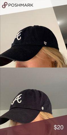 beac64b4 Navy Atlanta Braves baseball cap! ADJUSTABLE navy Atlanta braves baseball  hat! Accessories Hats