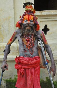 """A Painted Man"" Pashupatinath - Nepal #packrr www.packrr.com"