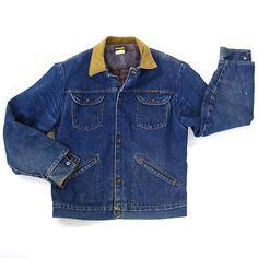 70s Wrangler Blanket Lined Denim Jacket / Vintage 1970s
