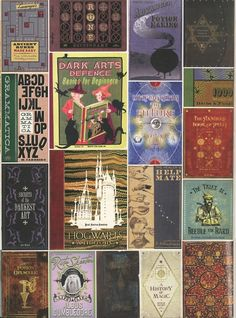 Wizarding Books      Wizarding books (click through for full size)    Love these.